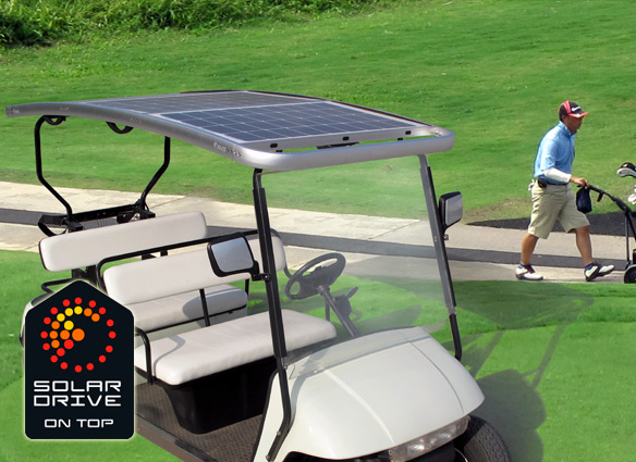 Solar roof for golf carts 1