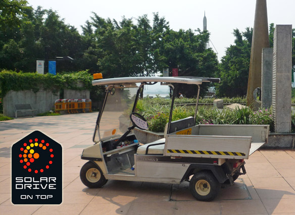 SolarDrive solar roof for utility vehicles